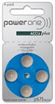 AccuPlus Rechargeable Batteries Size 675 Card of 4